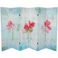 Spring Morning 5.25-foot Tall Canvas Room Divider (China)