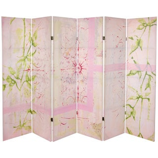 Pink Harmony 5.25-foot Tall Canvas Room Divider (China)