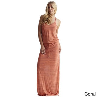 Elan Women's Razor Back Drawstring Maxi Dress