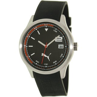 Puma Men's 'Wheel' Black Dial Watch
