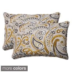 Pillow Perfect Outdoor Paisley Oversized Corded Rectangular Throw Pillows (Set of 2)