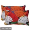 Pillow Perfect Outdoor Palma Corded Rectangular Throw Pillow (Set of 2)