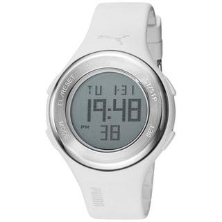 Puma Men's 'Drop' White Digital Sport Watch