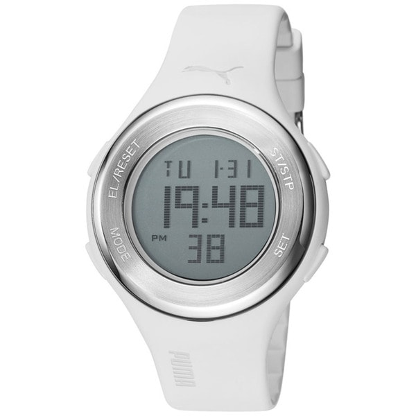 Puma Men's 'Loop' White Digital Sport Watch