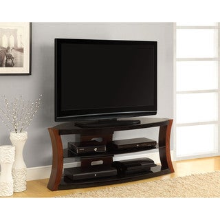 Altra Modern Bentwood and Glass TV Stand