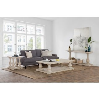 Winfrey Reclaimed Wood White Wash End Table