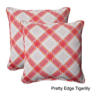 Pillow Perfect Outdoor Pretty Edge Corded 18.5-inch Throw Pillow (Set of 2)