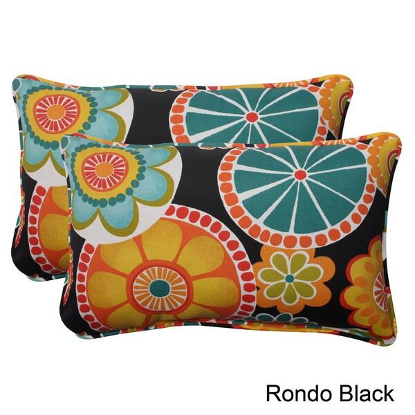 Pillow Perfect Outdoor Rondo Corded Rectangular Throw Pillow (Set of 2)