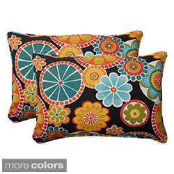 Pillow Perfect Outdoor Rondo Oversized Corded Rectangular Throw Pillow (Set of 2)