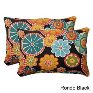 Pillow Perfect Outdoor Rondo Oversized Corded Rectangular Throw Pillow (Set of 2)
