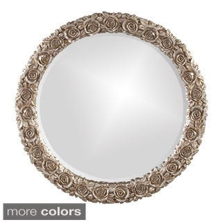 Silver Antique Rose Mirror