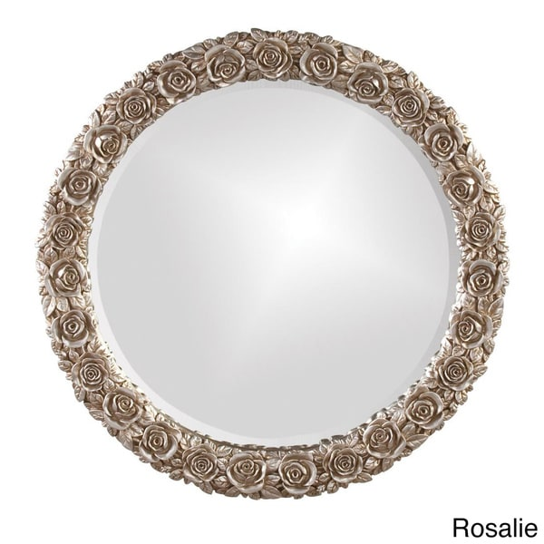 Silver Antique Rose Mirror