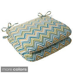 Pillow Perfect Outdoor Chevron Set Cushions (Set of 2)