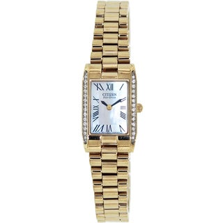 Citizen Women's Eco-Drive Goldtone/ Mother of Pearl Dial Watch