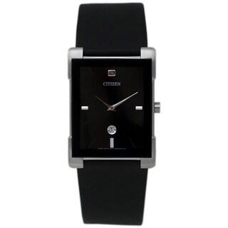 Citizen Women's Black Leather Strap Watch