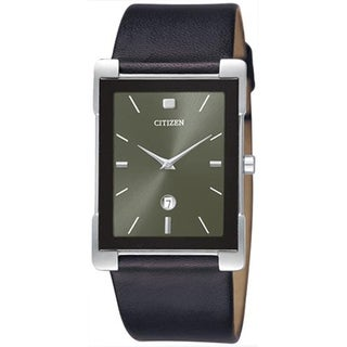 Citizen Women's BG5080-05H 'Dress' Black Leather Watch