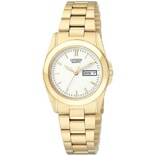 Citizen Women's Goldtone Stainless Steel White Dial Watch