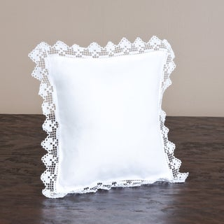 Hemstitch and Filet Lace Throw Pillow