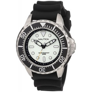 Nautica Men's Black Resin Strap Watch