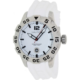 Nautica Men's 'BFD 100 Date' White Dial Watch