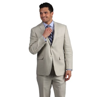 Adolfo Men's Tan Linen Suit