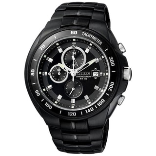 Citizen Men's Black Stainless Steel Chronograph Watch