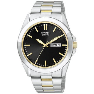 Citizen Men's Gold/Black Dial Stainless Steel Watch