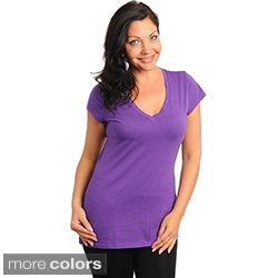 Stanzino Women's Plus Size V-neck T-shirt