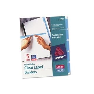 Avery Index Maker Divider with Blue Tabs