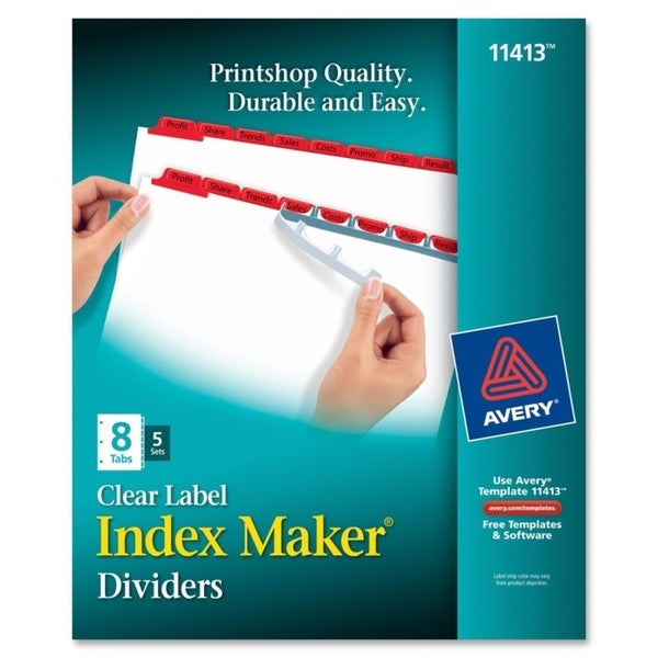 Index Maker Divider with Red Tabs
