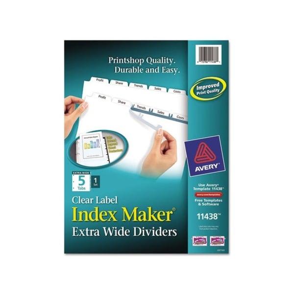 Avery Index Maker White 5-tab Divider