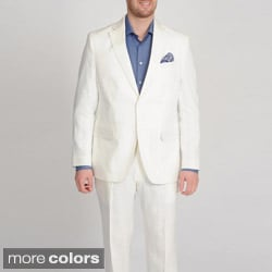 U & I Men's Linen 2-button Suit