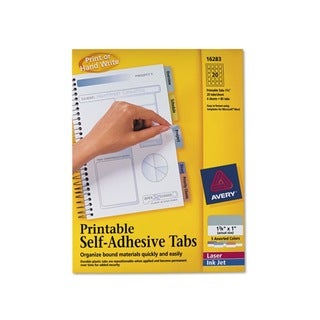 Avery Printable Repositionable Assorted Plastic Tabs (Pack of 80)