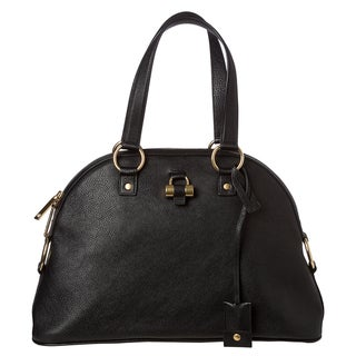 Yves Saint Laurent 'Muse' Leather Dome Handbag