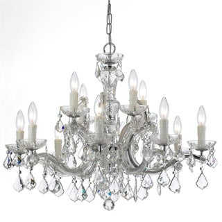Maria Theresa 12-light Chrome and Crystal Chandelier