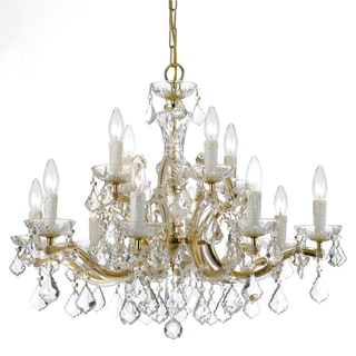 Maria Theresa Gold 12-light Chandelier