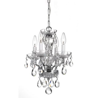 Transitional 4-light Chrome and Crystal Chandelier