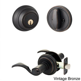 Sure-Loc Solid Entry Door Lever with Keyed Alike Deadbolt