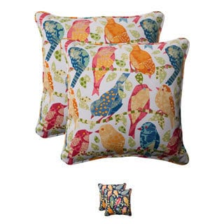 Pillow Perfect Ash Hill Polyester Corded Outdoor Square Throw Pillows (Set of 2)