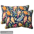 Pillow Perfect Ash Hill Polyester Corded Outdoor Rectangular Throw Pillows (Set of 2)