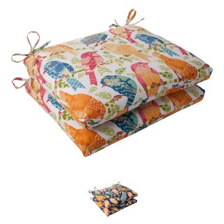 Pillow Perfect Ash Hill Polyester Squared Outdoor Seat Cushions (Set of 2)