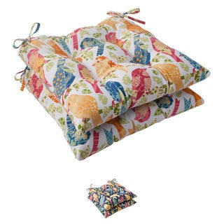 Pillow Perfect Ash Hill Polyester Tufted Outdoor Seat Cushions (Set of 2)