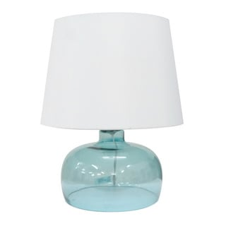 Integrity 20-inch Blue Opal Glass Table Lamp
