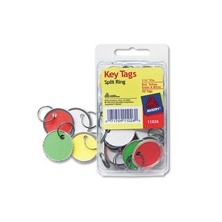 Avery Card Stock/Metal Metal Rim Key Tags 1.125 Diameter (Case of 50)