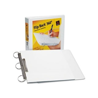 Avery Durable 1-Inch White Flip-Back Round-Ring View Binder