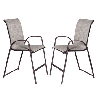 Bronze Outdoor Sling Barstools (Set of 2)