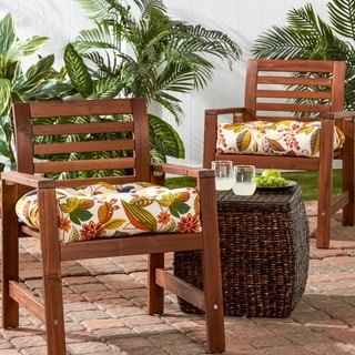 Fireworks Floral 20-inch Polyester Outdoor Chair Cushions (Set of 2)