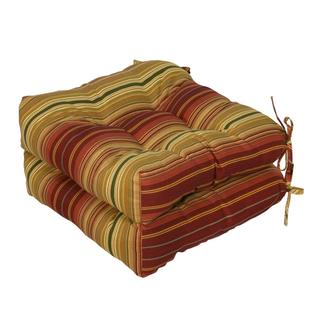 20-inch Outdoor Kinnabari Stripe Chair Cushion (Set of 2)