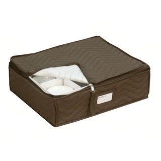 Quilted China Cup Storage in Brown