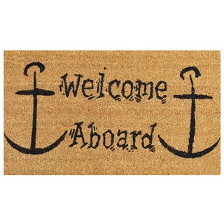 "Welcome Aboard-Coir with Vinyl Backing Doormat (17"" x 29"")"